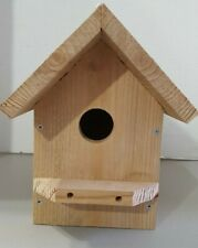 Bluebird Bird House Solid Cedar Birdhouse Handcrafted Rustic Rough Country