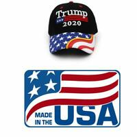 Trump Cap US Flag Keep America Great Hat President  2020 MAGA Cap Made in U.S.A