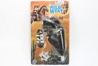 Vintage Rare Wild West Cowboy Gun Sherif Shing Bullets Belt Holster Toy Set