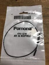 """Pomona 4741-12-0 0.025"""" Square Pin Receptacle Patch Cord, 12"""" Length, Black"""