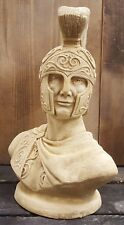 Greek Roman Art Spartan Bust Soldier Statue Sculpture