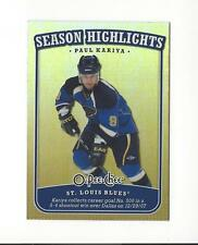 2008-09 O-Pee-Chee Season Highlights #SH14 Paul Kariya Blues
