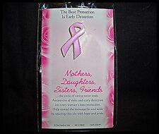 Pin Breast Cancer Ribbon Best Protection Early Detection Lapel Hat New in Pkg D5