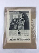 Steelman Portable Tape Recorder Vintage Print Collectible Advertisement 8 x 11