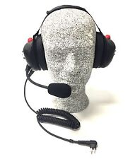 High Noise Headset for Motorola Two-pin Radios, Behind-the-head Model