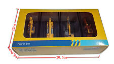 1:87 Scale Model, Diecast 4in1, Excavator, Crane, Grader, Drilling rig,free ship