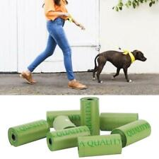 8 Rolls/120Pcs Green Plastic Waste Bag Thicken Pet Dog Waste Bags Garbage Durabl