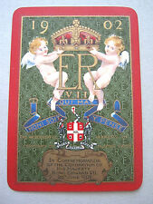 SINGLE SWAP CARDS 1 WIDE CARD WORSHIPFUL COMPANY 1902 ANTIQUE PLAYING CARD