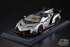 [KYOSHO ORIGINAL 1/43] Lamborghini Veneno Roadster Gray/Red Line Gray KS05572GR