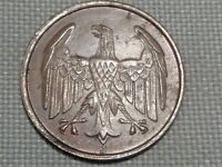 Germany Weimar Republic Hindenburg 4 Reichs Pfennig 1932 J Eagle Open Wings