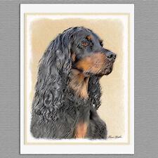 6 Gordon Setter Dog Blank Art Note Greeting Cards