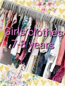 Girl Clothes Make Your Own Bundle Size 7-8 years Dress Coat Jeans Legging Blouse