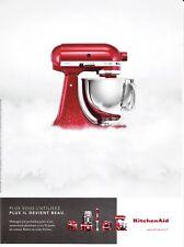 PUBLICITE DE PRESSE. ADVERTISING . ROBOT KITCHEN AID.  2015