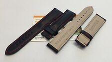 Cinturino Eberhard in cuoio nero ansa 21mm per Traversetolo 21016-21020
