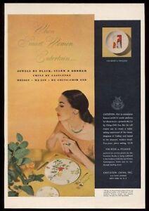 1950 Pablo Picasso 'Vin Rose' plate design art Castleton China vintage print ad