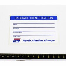 Reeve Aleutian Airways Airlines Bag Tag Stickers - 1990s - Good Condition