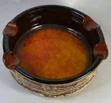 Bendigo Pottery Epsom Mid Century Glazed Ashtry Orange Retro Rare