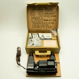 Kalart 8mm Film Movie Editor Viewer Eight w/ Original Box