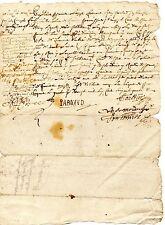 2/ REGION AUVERGNE / LETTRE DOCUMENT MANUSCRIT 1690 Latin Vieux Français