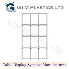 Cable Window Estate Agent Display - 3x4 A4 Portrait - Suspended Wire Systems