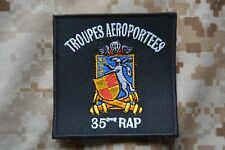 Z084 écusson patch insigne Troupes Aéroportées 35e Régiment Parachutiste RAP