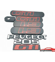 Kit custodes Peugeot 205 GTI 1L9 noire + Monogrammes Peugeot +205+GTI