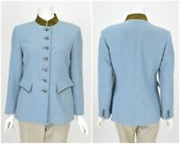 Womens Schneiders Salzburg Trachten Blazer Jacket Coat Blue Wool Size D36 / UK8
