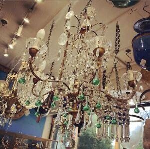 Antique Italian Glass Chandelier