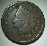 1889 Indian Head Cent in Average Circulated Condition  Priced Right