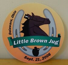 Standardbred Harness Horse Racing Little Brown Jug Ohio 2006 Sticker Decal
