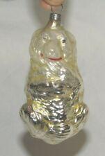 German Antique Glass Polar Bear Vintage Christmas Ornament Decoration 1900's