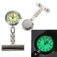 Fine Luminous Dial Medical Doctor Brooch Fob Quartz Cross Nurse Pocket Watch