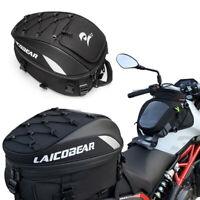 Motorcycle Rear Rack Seat Bag Waterproof Travel Luggage Helmet Tail Storage Case