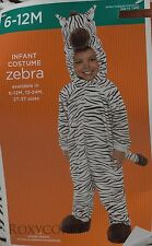 Halloween Infant Zebra Jumpsuit Costume Size 6-12 months 25-29 in Height NWT