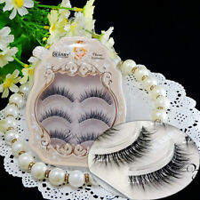 3D Luxurious Handmade Transparent Band Natural Super Soft Cross False Eyelashes