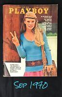 Playboy Magazine, September 1970, VERY GOOD Condition, Peter Fonda Interview
