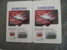 Samsung 32gb SD evo plus memory card class 10 including adapter SDHC