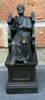 Statuette religieuse sur son socle Saint-Pierre tenant sa croix, laiton XXème...