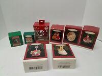 Hallmark Keepsake Ornaments Lot X8 Christmas mixed year 90's/00's