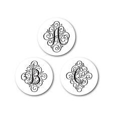 Single Letter Monogram Round Stickers | ES100