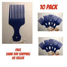 """10 Pack - Quality Afro Curly Hair Pick Mini Comb Salon Professional - BLUE 5"""""""