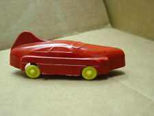 """VINTAGE PLASTIC TOY RACER RACE CAR D&L TOY COMPANY PITTSBURGH PA. 5 1/2""""  1950'S"""