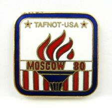 TAFNOT(Track & Field News Olympic Tours) USA Moscow 1980 Olympics Unique Pin