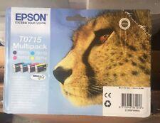 EPSON ORIGINAL T0715 CHEETAH MULTIPACK INK CARTRIDGE SET OR ANY 4