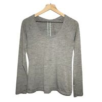 Z by Zella Long Sleeve Scoop Neck Athletic Top Large L Gray Women's