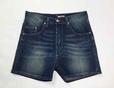 Please shorts jeans donna usato S small relaxed boyfriend denim T3829