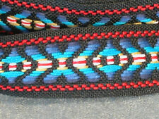 """36 yard roll of embroidered trim - mostly blue - 1"""" wide"""