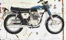 Honda CB350 supersport 1968 aged vintage signe A3 grand rétro