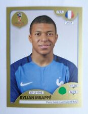 2018 PANINI WORLD CUP - KYLIAN MBAPPE (FRANCE) BASE ROOKIE Sticker RC # 209 Gold