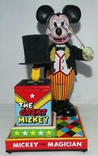 "RARE NM👍  DISNEY1950's""MICKEY THE MAGICIAN""LITHOGRAPHED TIN BATTERY LINEMAR TOY"